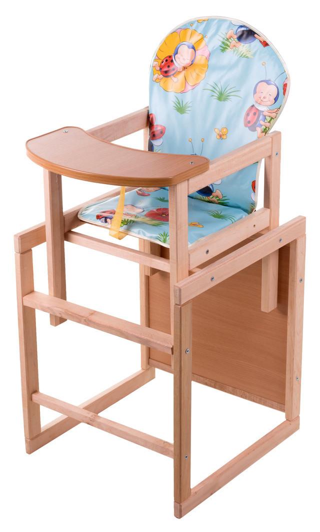 стульчик для кормления трансформер детский деревянный расцветка для