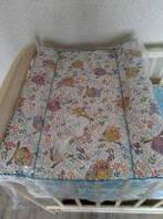 Пеленатор на детскую кроватку с ножками ограничителями Сова ветка