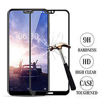 Защитное стекло с рамкой для Nokia X6 (2018)