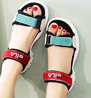 Спортивные женские  сандалии из натуральной замши 36 размер