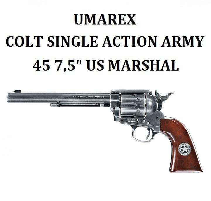 """Пневматический пистолет Umarex Colt Single Action Army 45 7,5"""" US Marshal"""
