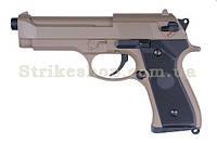 Пістолет Beretta M92F/M9 Cyma CM.126 Tan AEP, фото 1