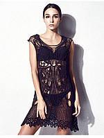 Шикарное пляжное платье-туника хлопок