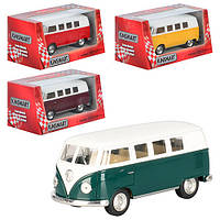 Автобус KT 5060 W, металл, инер-я, 1:32, 13 см, откр.багаж рез.колеса, 4 цвета, в коробке, 16-7-8 см