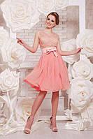 Нарядное платье гипюровое с шифоновой юбкой