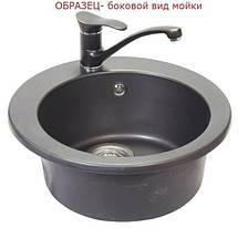 Кухонная гранитная мойка FOSTO D510 SGA-210 олово, фото 3