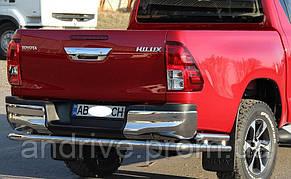 Защита задняя Toyota Rav4 (2006-2012) /изогнутая