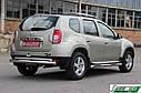 Защита задняя Dacia/Renault Duster 2010+ /ровная, фото 2