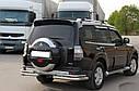 Защита задняя Mitsubishi Pajero Wagon (2006-) /двойн углы, фото 3