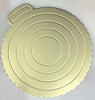 0288 Подложка для Торта Золотистая Ø220мм