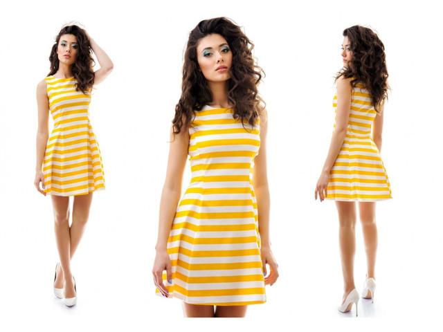 e823a7500f4 Женское короткое платье-сарафан в полоску 30428 купить в интернет ...