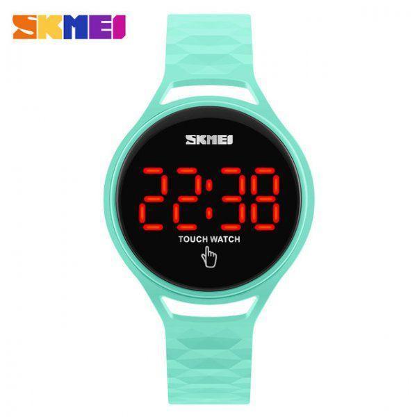 Спортивные сенсорные часы Skmei 1230 зеленые Водонепроницаемость: 3 АТМ