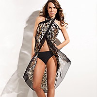 Женская пляжная одежда Triumph микс сток оптом (Триумф парео, туники, платья, женские пляжные шорты)