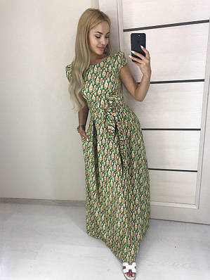 Очень красивое платье в пол цветочный принт