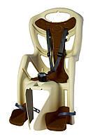 Велокресло на багажник Bellelli Pepe бежево-коричневое