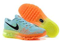 "Кроссовки Nike Air Max Flyknit 2014 ""Blue/Orange/Lime"""