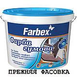 Краска резиновая Farbex чёрная матовая RAL 9004, 12 кг (Фарба гумова Фарбекс), фото 2