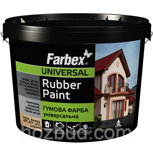 Краска резиновая Farbex (база С), 12 кг