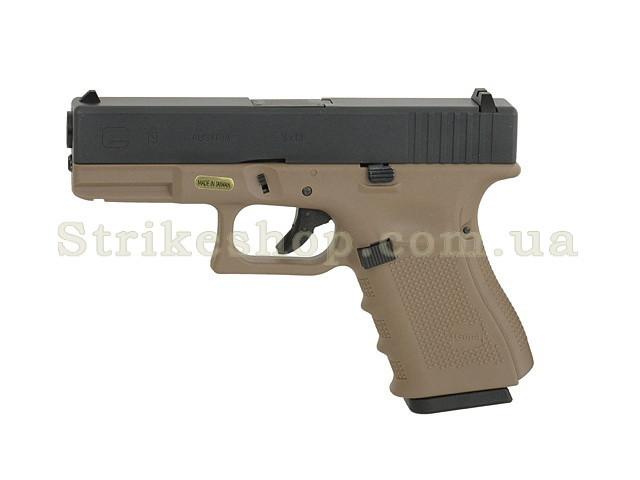 Пістолет Glock 19 Gen4. WE Metal Tan Green Gas