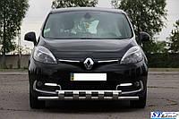 Защита переднего бампера (кенгурятник) Renault Scenic (2009-) /ус двойной SHARK