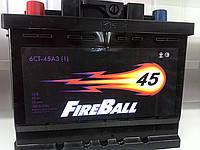 Аккумулятор автомобильный FireBall 6СТ-45AЗ, 45 А/ч, 360 A, левый +
