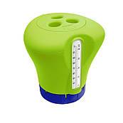 Дозатор Kokido K619BU (табл. 75 мм) зелений з термометром для басейну