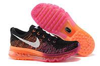 Кроссовки Nike Air Max FLYKNIT 2014 Black/Orange Rainbow