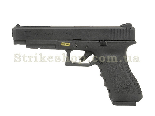 Пістолет Glock 34 GEN.3 WE Metal Green Gas