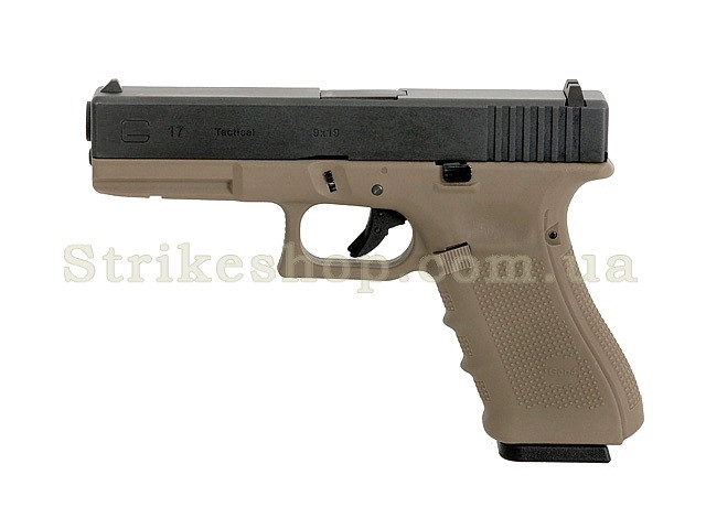 Пістолет Glock 17 Gen4. WE Metal Tan Green Gas