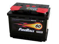 Аккумулятор автомобильный FireBall 6СТ-60AЗ, 60 А/ч, 480 A, левый +