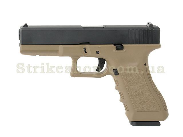 Пістолет Glock 17 Army Metal Tan Green Gas