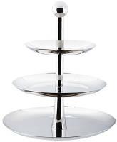 Конфетница {фркутовница} трёхъярусная нержавеющая круглая H 310 мм (шт)
