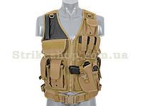 Розвантажувальний жилет Tactical chest 8FIELDS Coyote, фото 1