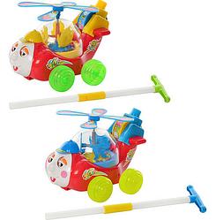 """Каталка """"Самолетик"""". Детская каталка на палочке. Каталка на палочке для малышей."""