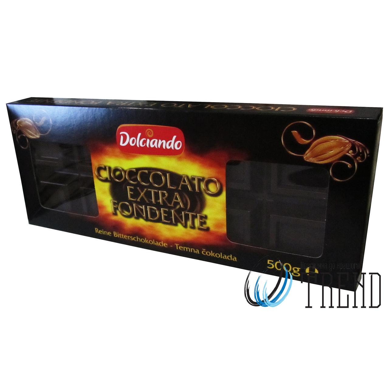Dolciando Cioccolato Extra Fondente чорний шоколад 500 гр.