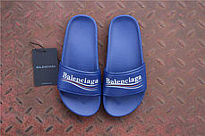Мужские тапочки Balenciaga Leather Campaign Logo Slides 0400010533827, Баленсиага Трек, фото 2