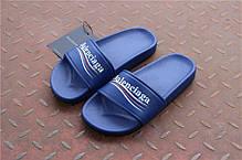 Мужские тапочки Balenciaga Leather Campaign Logo Slides 0400010533827, Баленсиага Трек, фото 3