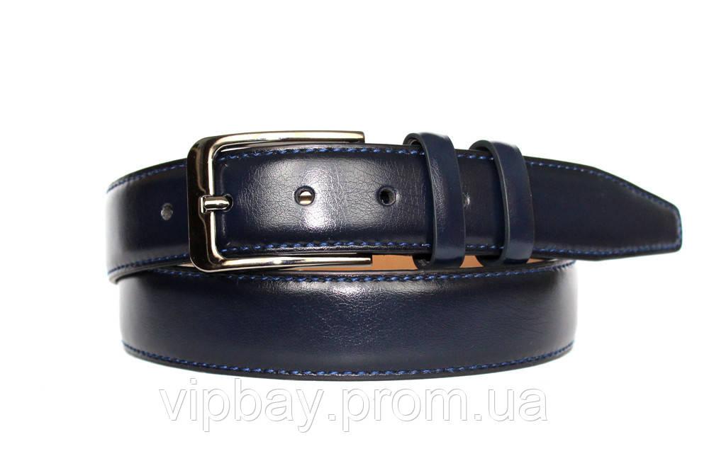 Синій чоловічий ремінь модний і сучасний (П-056)