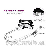 Utimi Набор рабства Кляп с цепью leather collars with chain mouth gag SM bondage sex toy gagging shackles, фото 3