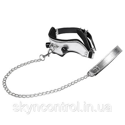 Utimi Набор рабства Кляп с цепью leather collars with chain mouth gag SM bondage sex toy gagging shackles, фото 2