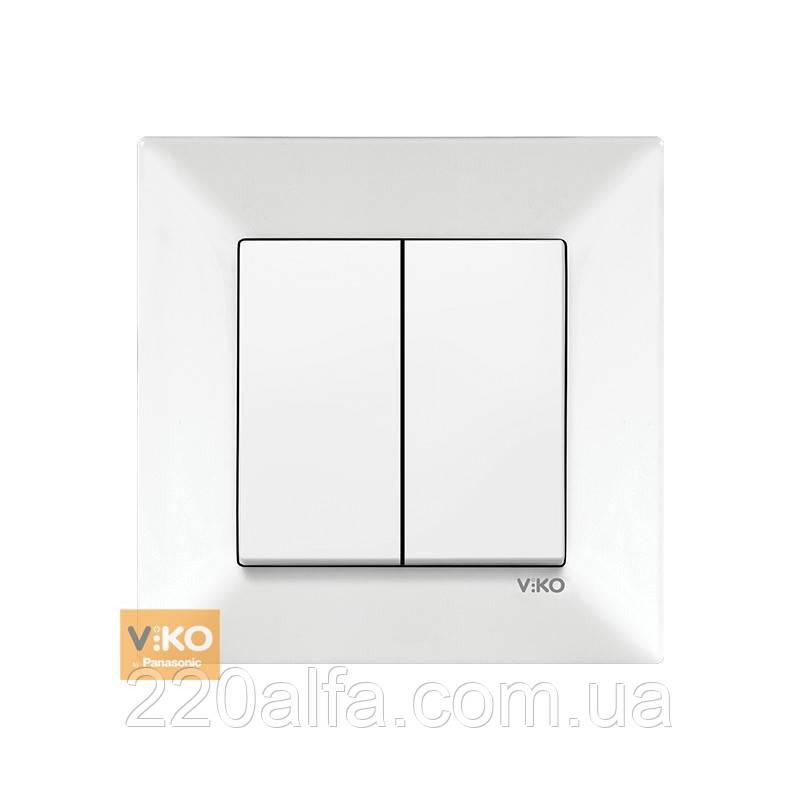 Выключатель Viko MERIDIAN, белый, 2 кл.