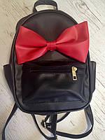 """Молодежный рюкзак """"Минни""""  WeLassie черный с красным"""