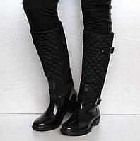 Оптом 36 розмір Жіночі гумові чоботи утеплені (ч-3)