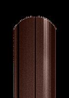 Штакет полукруглый, матовый двухсторонний полиестер