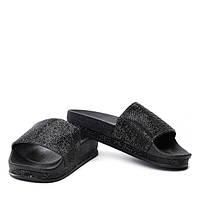Летние шлепанцы для повседневной носке черного цвета