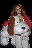 """Большая мягкая игрушка - собачка """"Шарик"""" (белый) 110 см."""