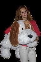 """Большая мягкая игрушка - собачка """"Шарик"""" (белый) 110 см., фото 1"""