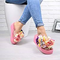 Шлепки женские Asti розовые 5030, шлепки летние, фото 1