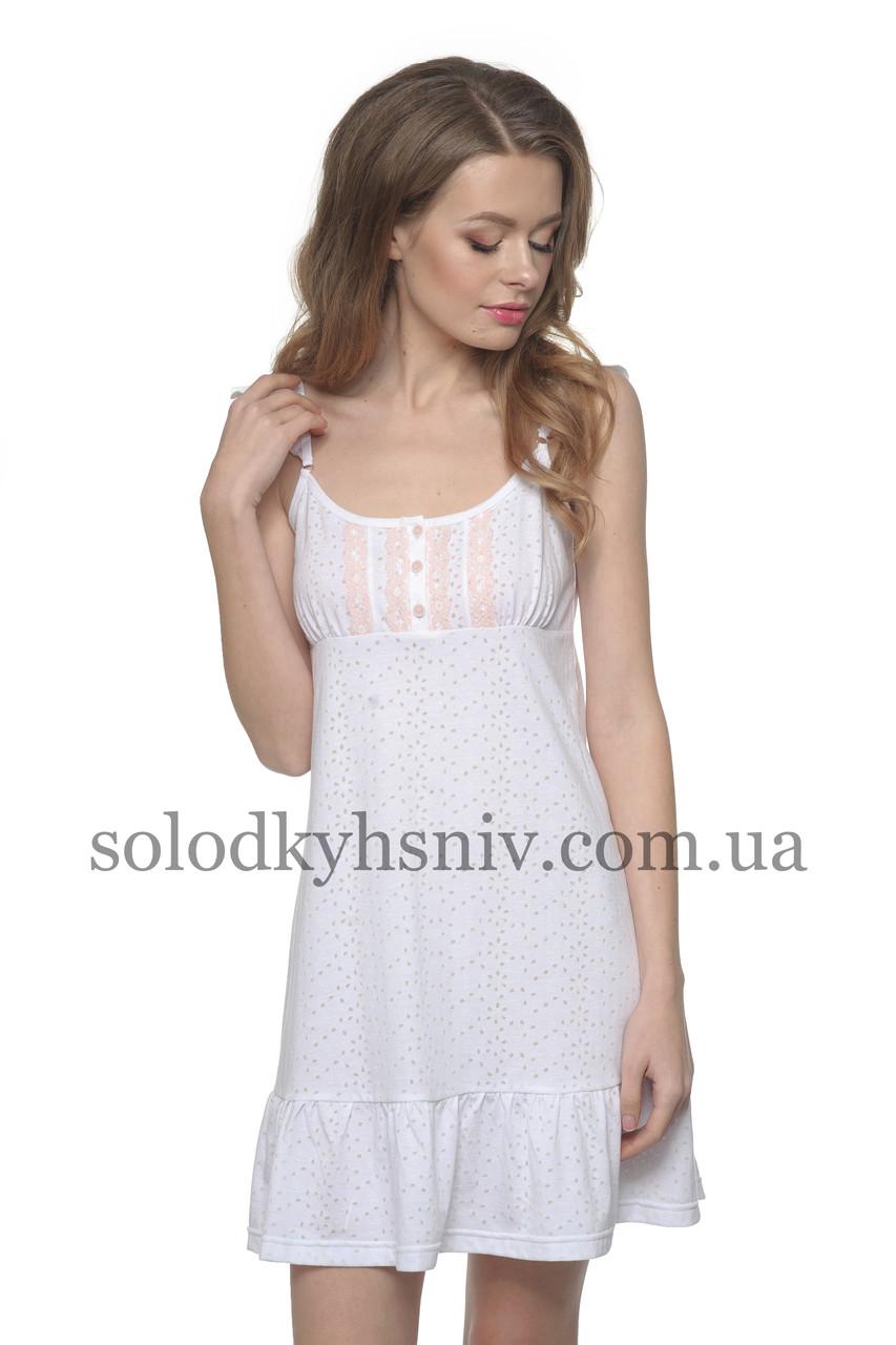 Жіноча сорочка ELLEN Квіткова Ніжність (деворе) біла 147 001 ... e72ab2c14b372