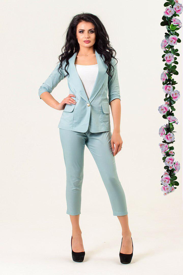 Стильный костюм, пиджак и капри в классическом стиле / 3 цвета арт 5700-574